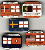 5 x England match badges