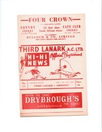 Third Lanark v Aberdeen - 1962/1963