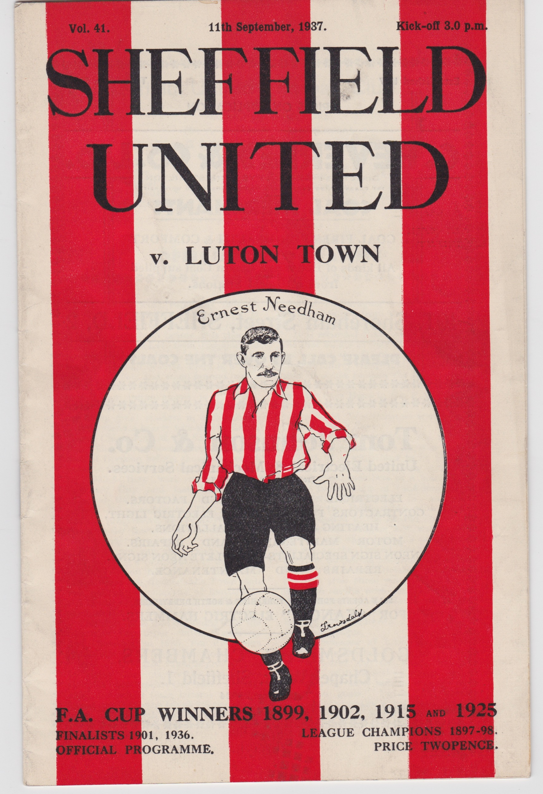 Sheffield United v Luton Town - 1937/1938
