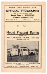 Frome Town v Minehead - 1952/1953