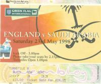 England v Saudi Arabia - 1997/1998